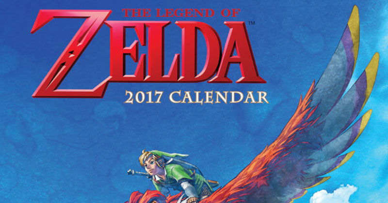 Calendario Zelda oficial 2017