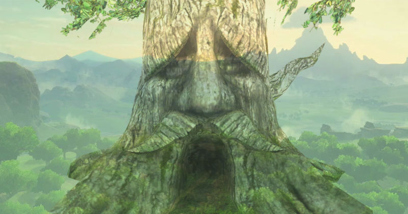 El Arbol Deku en Breath of the Wild