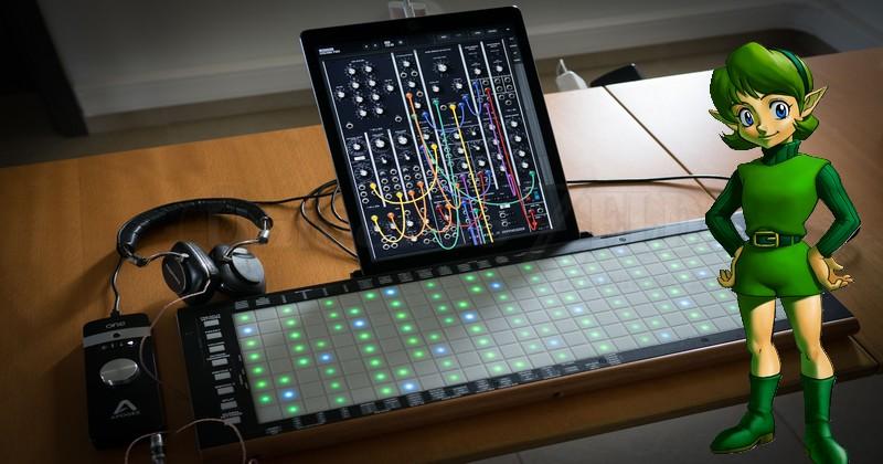 La canción de Saria interpretada con LinnStrument, un controlador Midi