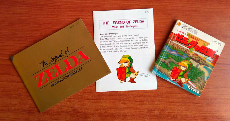 Miyamoto habla del manual de The Legend of Zelda