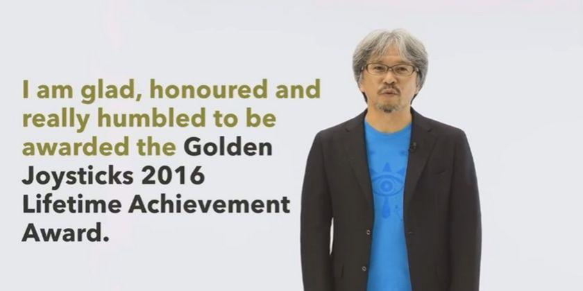 Premio a la trayectoria profesional de Eiji Aonuma en los Golden Joysticks 2016