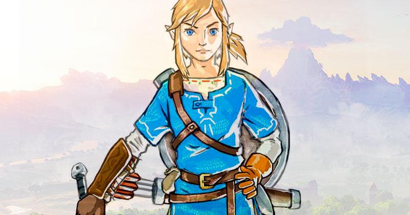Dos nuevos bocetos de Link de Breath of the Wild