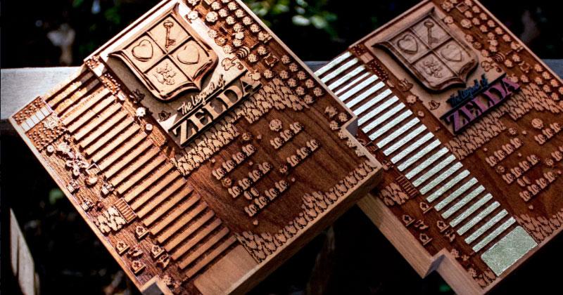 Arte de NES en madera
