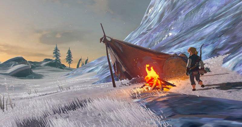 Link en la montaña helada