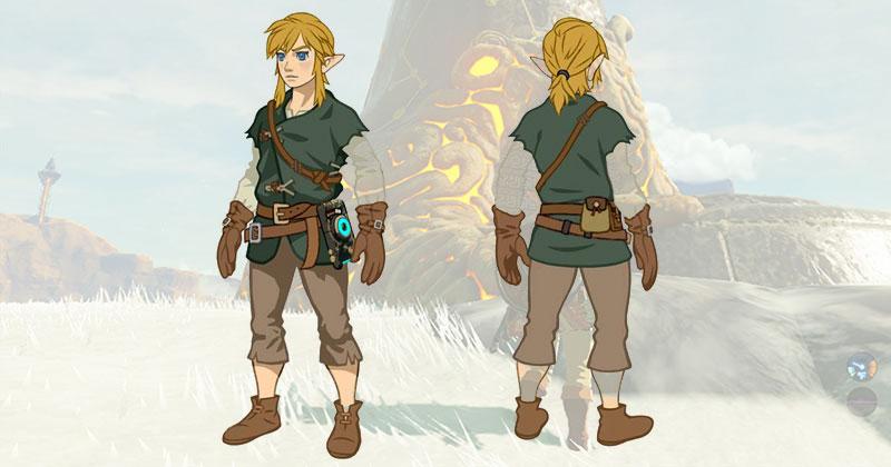 Breath of the Wild: Link en camisa de invierno