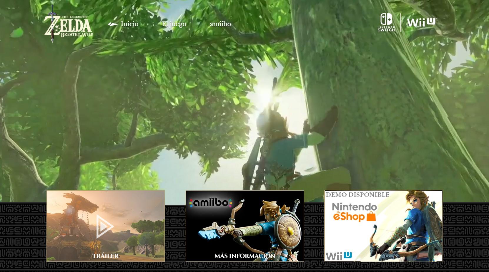 DEMO de Zelda Breath of the Wild ya disponible en eShop de Wii U