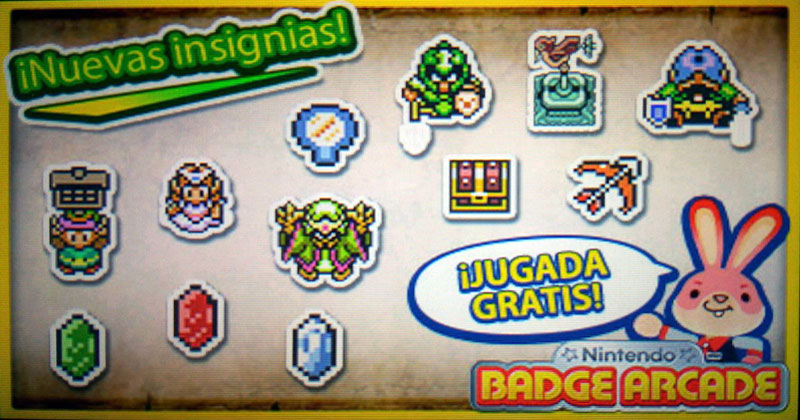 Insignias de A Link to the Past en Nintendo Badge Arcade