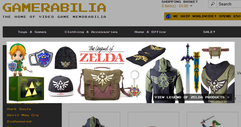 Nuevo merchandising en Gamerabilia