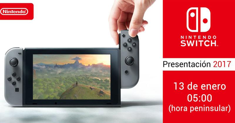 Detalles de Nintendo España sobre la presentación de Switch