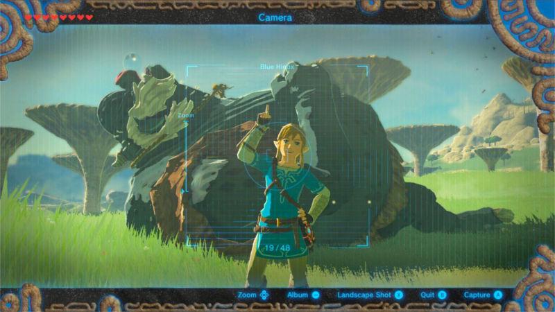Nueva imagen de Breath of the Wild que muestra el modo cámara