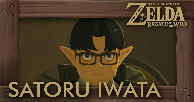¿Será esto un tributo a Satoru Iwata en Zelda: Breath of the Wild?