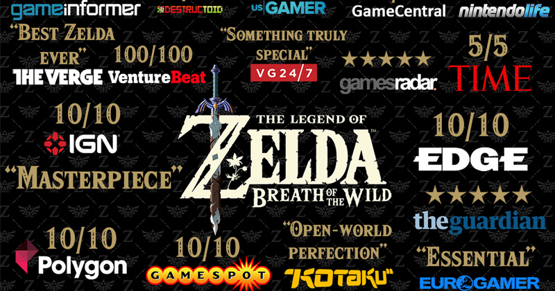 Las notas de la prensa a Breath of the Wild: 98%
