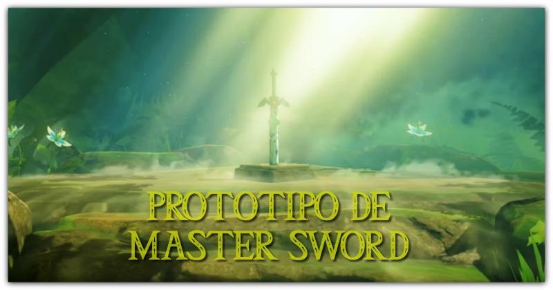 Prototipo de la Master Sword de Breath of the Wild