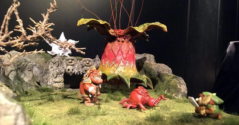 Diorama de Zelda 1 en Akihabara