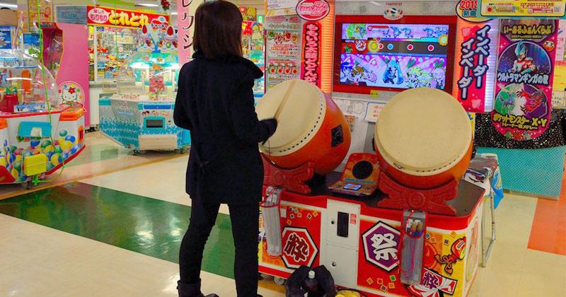 Breath of the Wild en un arcade de tambores