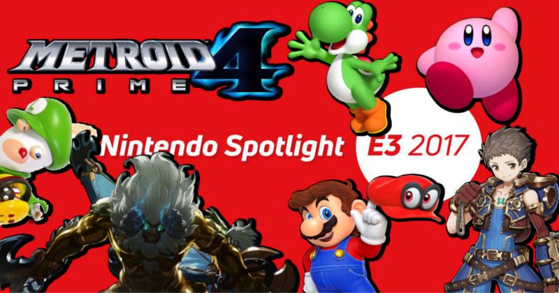 Vídeo Opinión Nintendo Spotlight E3 2017