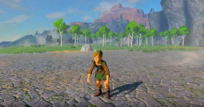 Glitch de Breath of the Wild: Link jorobado