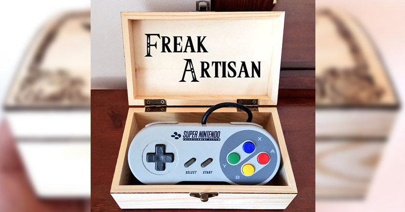 Cajas de madera pirograbadas de Zelda
