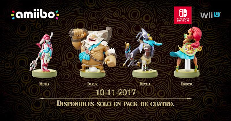 Nuevos detalles sobre los amiibos de los Elegidos de Zelda Breath of the Wild