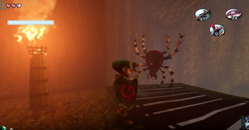 El interior del Gran Árbol Deku en Unreal Engine 4