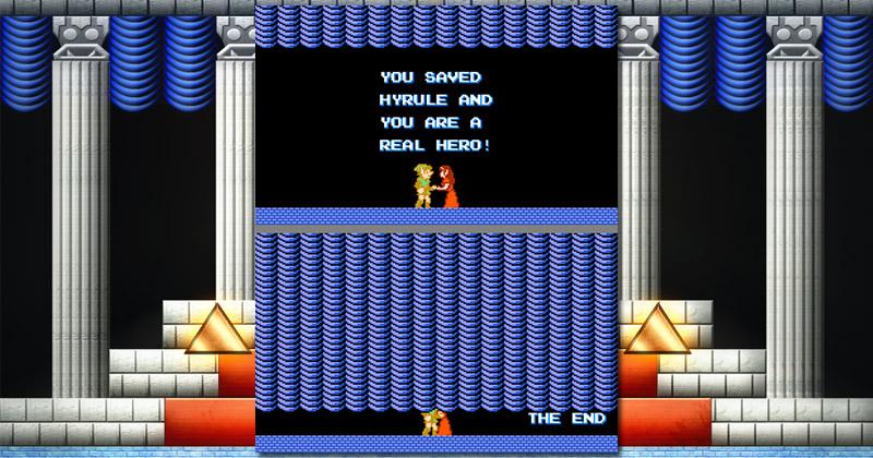 ¿Qué hacen Link y Zelda tras la cortina en Zelda II?