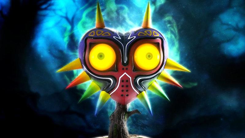 La estatua de la máscara de Majora muestra su vídeo de producción