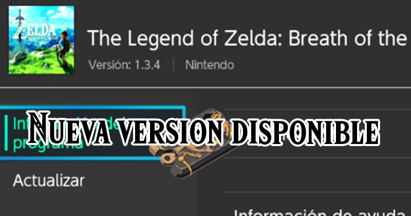 The Legend of Zelda: Breath of the Wild se actualiza a su versión 1.3.4