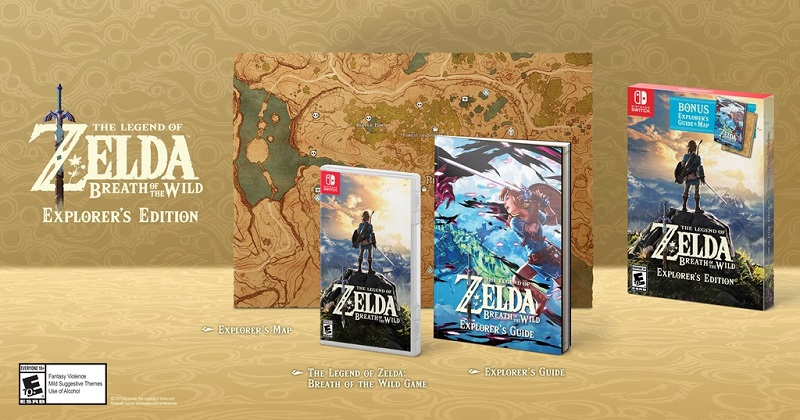 Nintendo anuncia Zelda Breath of the Wild – Explorer's Edition para América