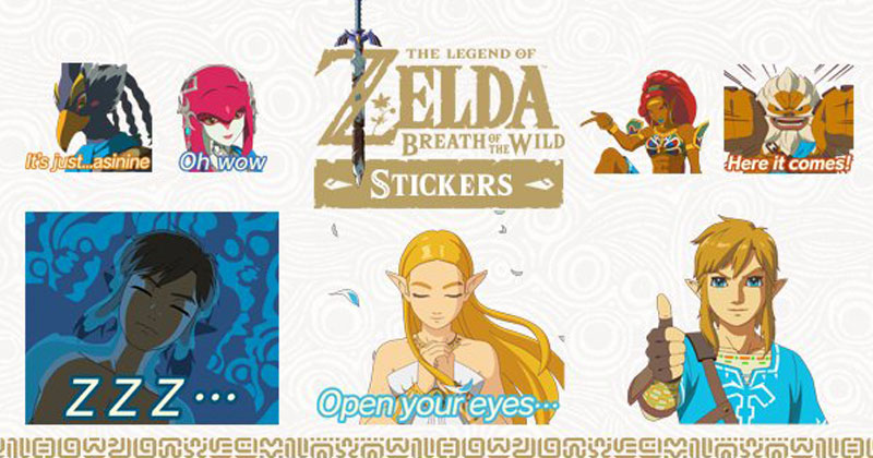 Stickers de Breath of the Wild en iMessage y LINE