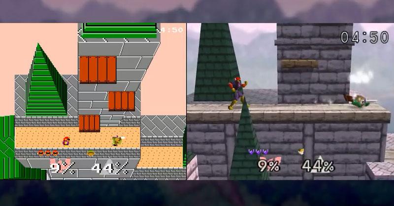 Super Smash Bros. con gráficos de 8 bits