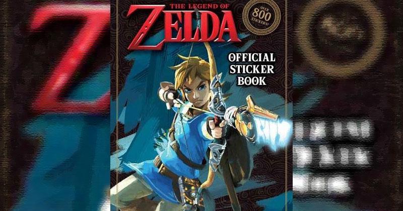 Libros de pegatinas oficiales de Zelda