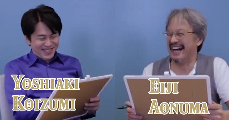 Eiji Aonuma y Yoshiaki Koizumi juegan a las adivinanzas