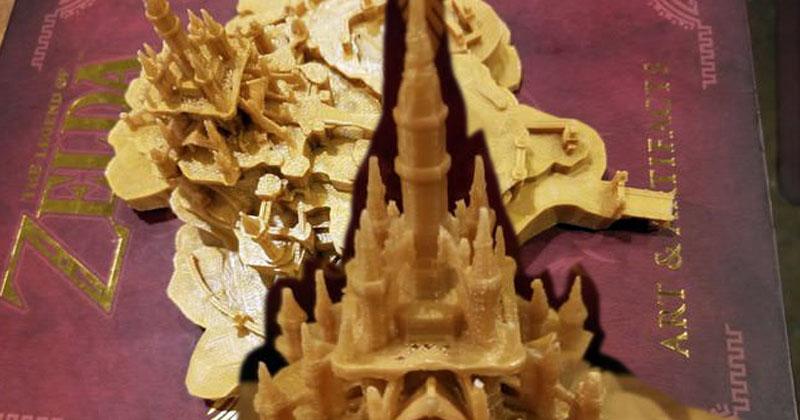 El Castillo de Hyrule impreso en 3D