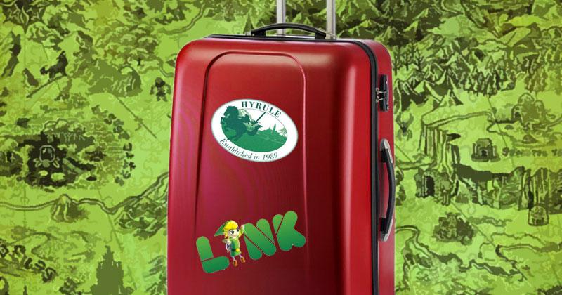 Decora tu maleta al estilo Zelda