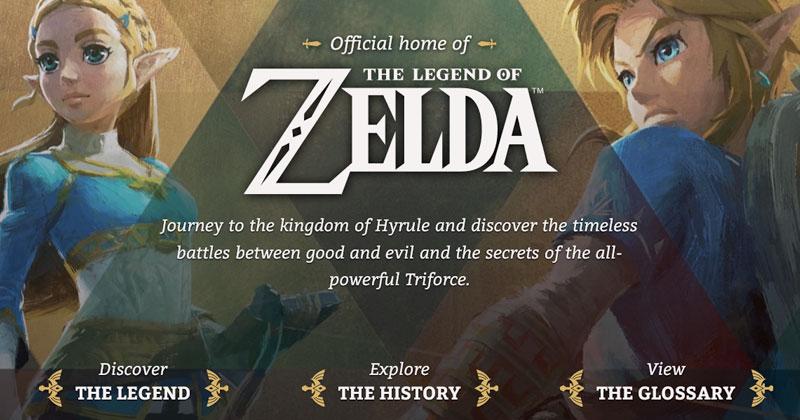 La página oficial Zelda.com se actualiza