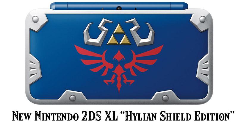 Anunciada la nueva New Nintendo 2DS XL tematizada en el Escudo Hyliano