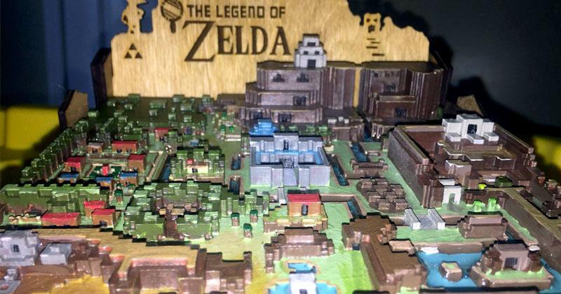 Mapa impreso en 3D de A Link to the Past
