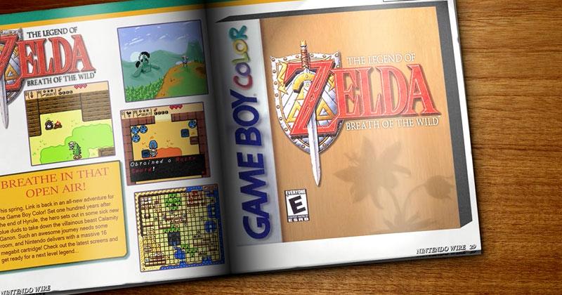 ¿Cómo sería Breath of the Wild para Game Boy Color?