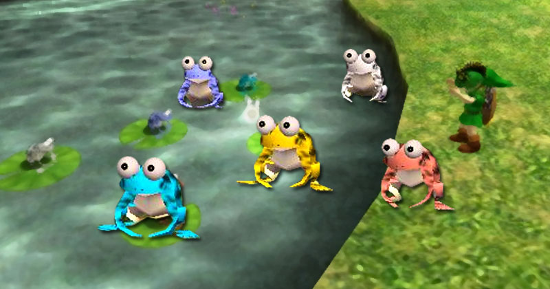Coro de ranas de Majora's Mask con Ocarina