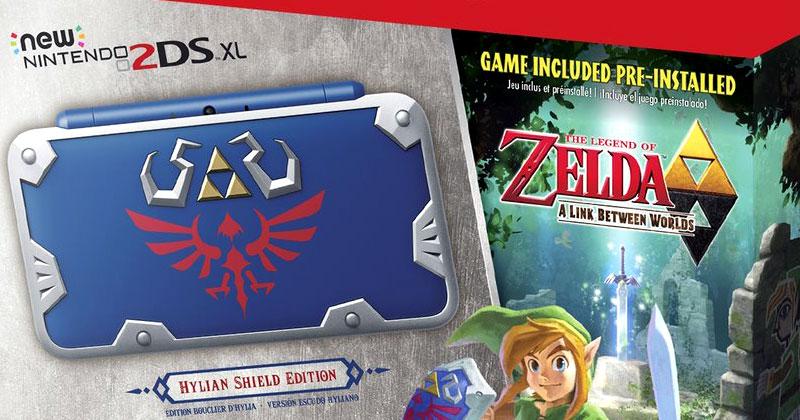New 2DS XL Hylian Shield Edition también en Canadá