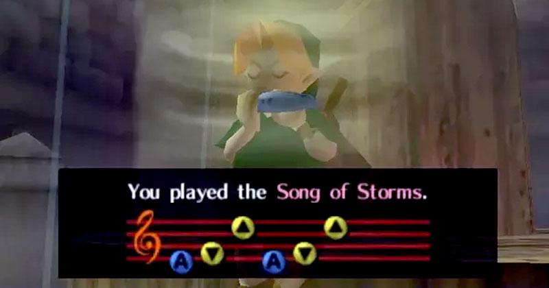 Versión de la Canción de las Tormentas en piano y melódica