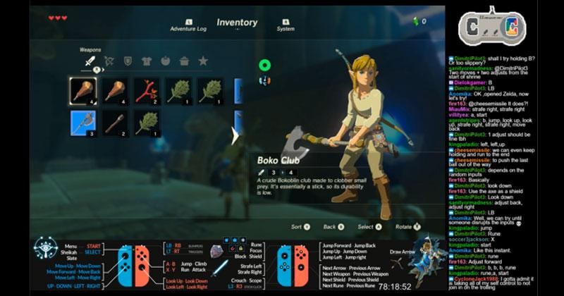 La partida multijugador de Breath of the Wild en Twitch finaliza el juego