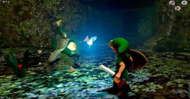 Link se enfrenta a Gohma en Unreal Engine 4