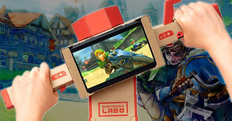 Conduce la moto de Link con Nintendo Labo