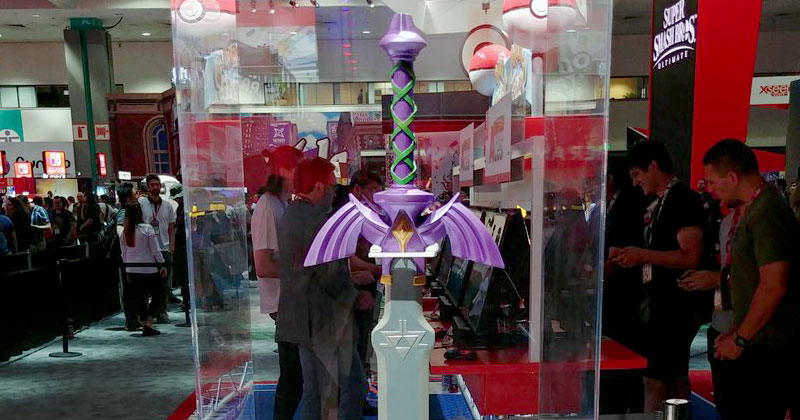 La Espada Maestra en el estand de Nintendo del E3