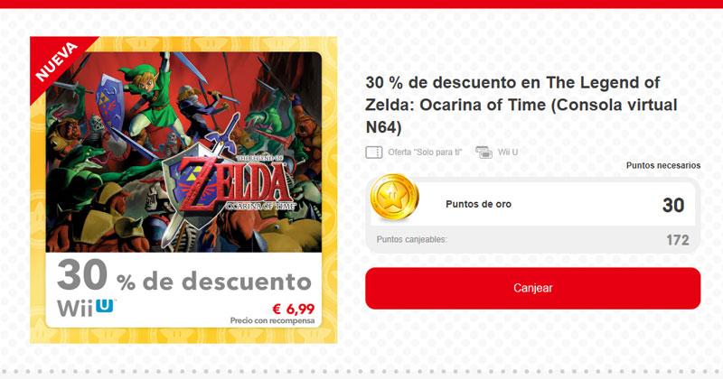 My Nintendo: descuento en Ocarina of Time