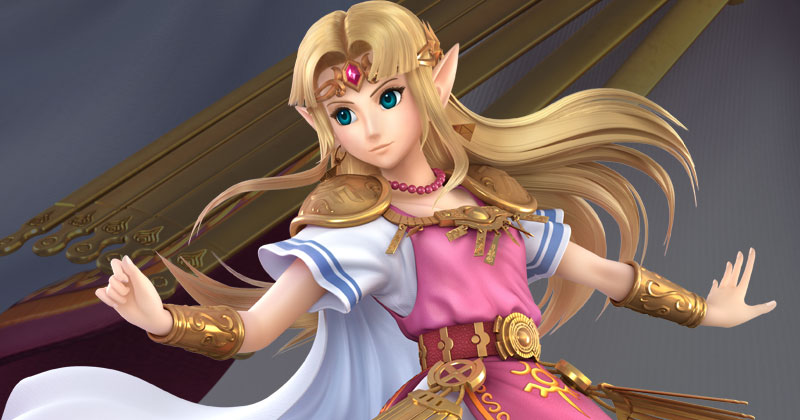 Comparativa del aspecto de la Princesa Zelda de Super Smash Bros. Ultimate