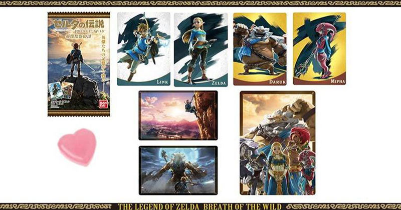 Cartas coleccionables japonesas de Breath of the Wild