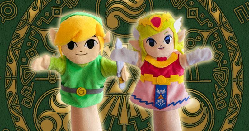 Marionetas de Link y Zelda en GAME