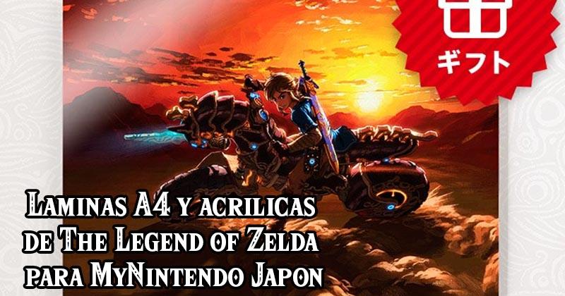 Láminas artísticas de The Legend of Zelda en oferta en MyNintendo Japón